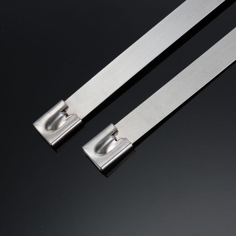 G16mm宽SS304自锁式白钢不锈钢扎带-乐清市百德电气有限公司